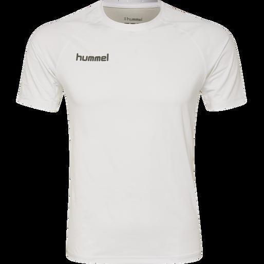 HUMMEL FIRST PERFORMANCE KIDS JERSEY S/S, WHITE, packshot