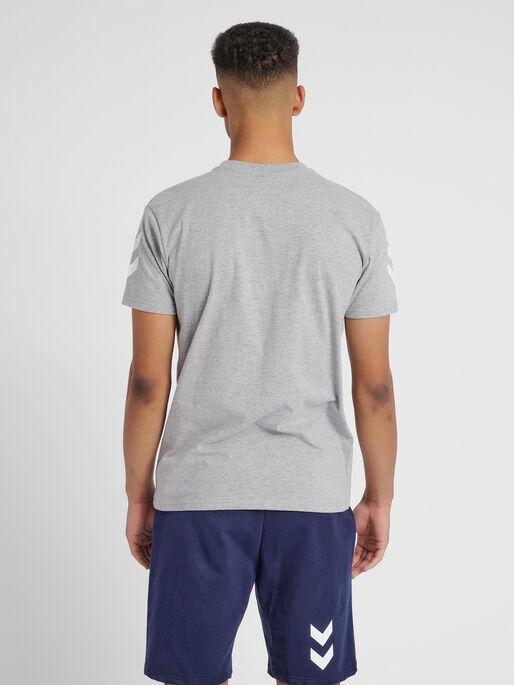 HUMMEL GO COTTON T-SHIRT S/S, GREY MELANGE, model