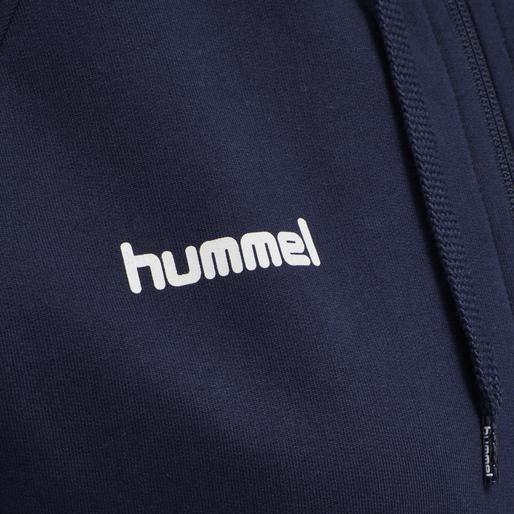 HUMMEL GO COTTON ZIP HOODIE WOMAN, MARINE, packshot