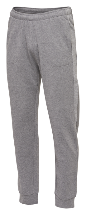 hmlACTIVE KIDS COTTON PANTS, DARK GREY MELANGE, packshot