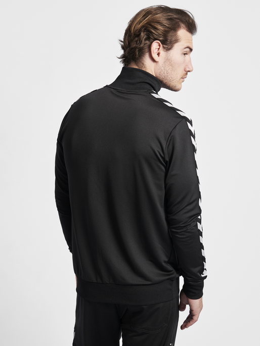HMLNATHAN ZIP JACKET, CAVIAR/CAVIAR, model