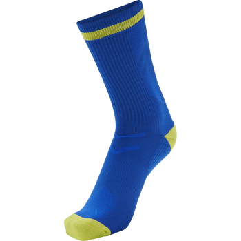 ELITE INDOOR SOCK LOW, TRUE BLUE/BLAZING YELLOW, packshot