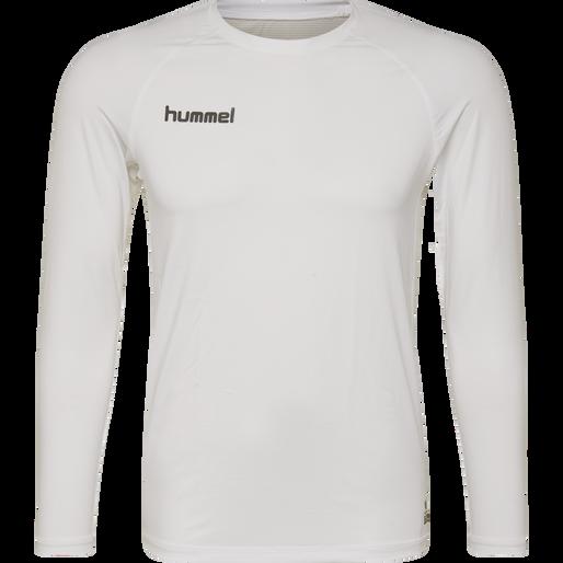 HUMMEL FIRST PERFORMANCE KIDS JERSEY L/S, WHITE, packshot