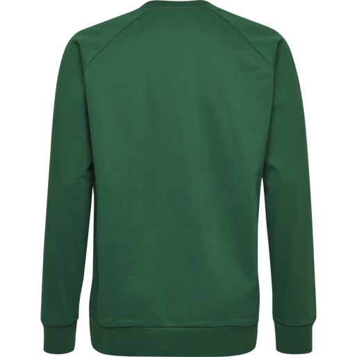 HUMMEL GO COTTON LOGO SWEATSHIRT, EVERGREEN, packshot