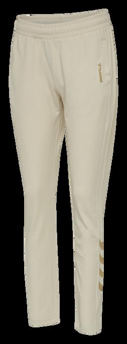 hmlZIBA TAPERED PANTS, BONE WHITE, packshot