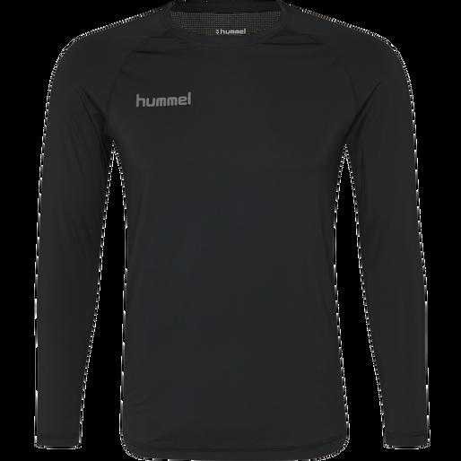 HUMMEL FIRST PERFORMANCE KIDS JERSEY L/S, BLACK, packshot