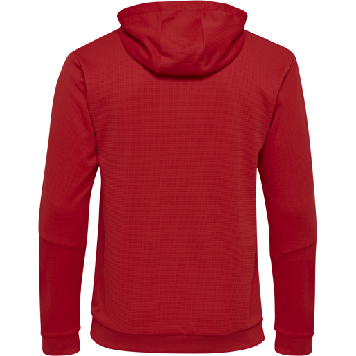 hmlAUTHENTIC KIDS POLY HOODIE, TRUE RED, packshot