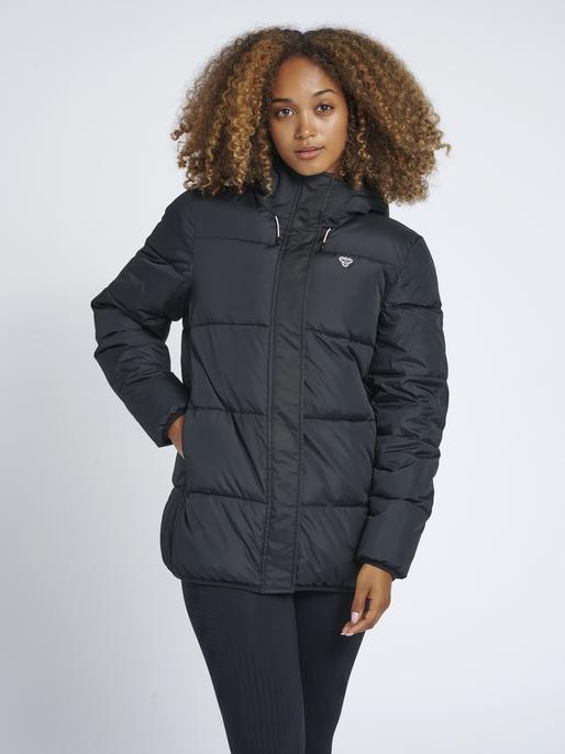 hmlMANDA PUFF COAT, BLACK, model