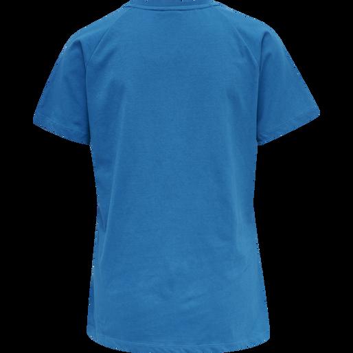hmlZENIA T-SHIRT S/S, MYKONOS BLUE, packshot