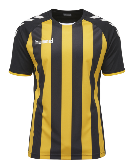 CORE STRIPED SS JERSEY, BLACK/SPORTS YELLOW, packshot