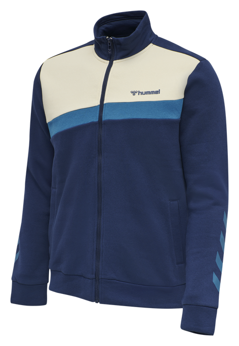 hmlFALCON ZIP JACKET, MEDIEVAL BLUE, packshot