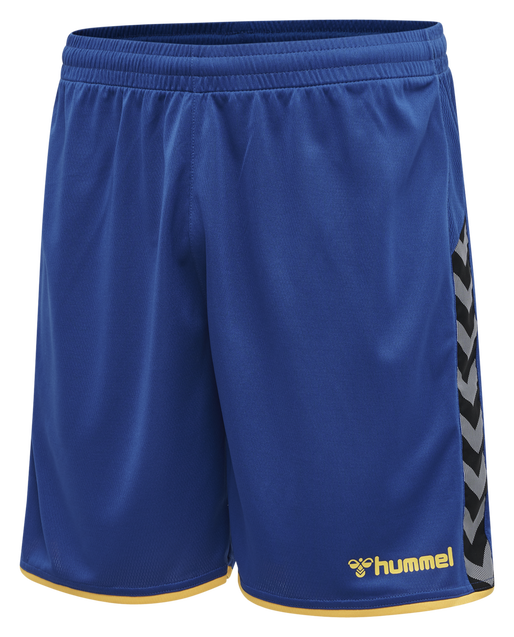 hmlAUTHENTIC POLY SHORTS, TRUE BLUE/SPORTS YELLOW, packshot