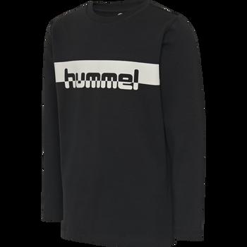 hmlOTTO T-SHIRT L/S, BLACK, packshot
