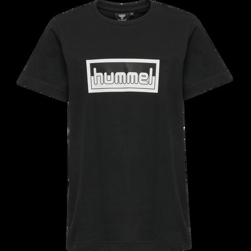 hmlMONO T-SHIRT S/S 2-PK, OMBRE BLUE/BLACK, packshot