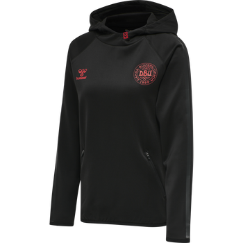 DBU TRAVEL HOODIE WOMAN, BLACK, packshot