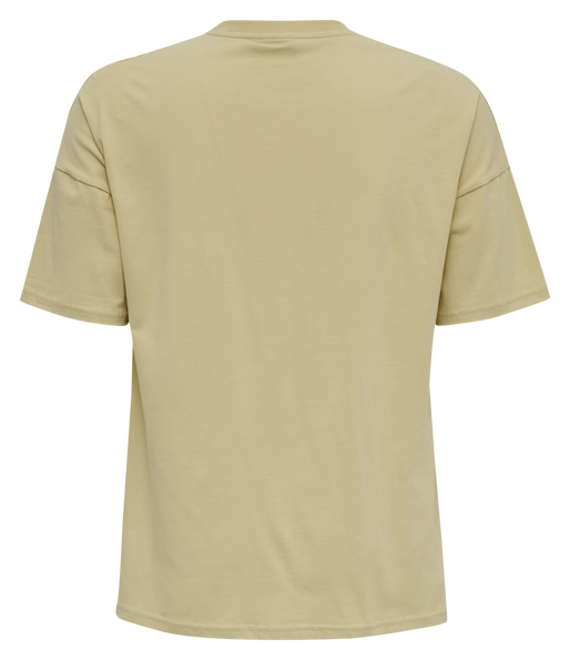 hmlBEACH BREAK T-SHIRT, PALE KHAKI, packshot