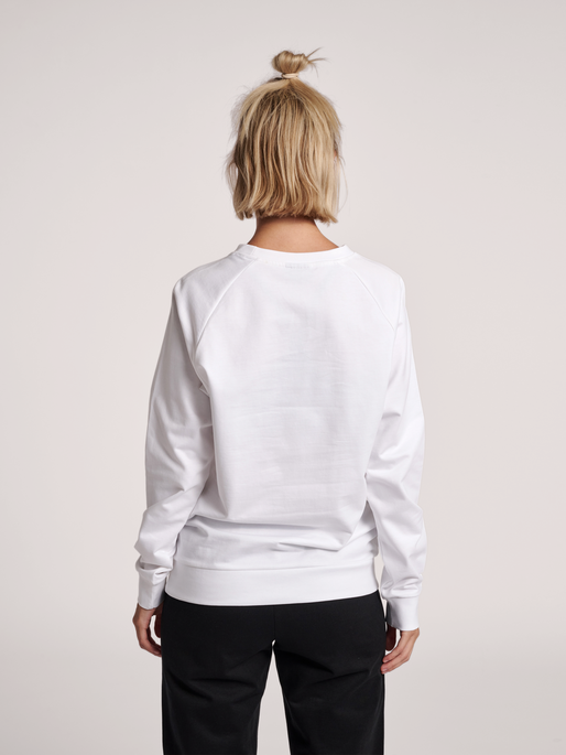 HUMMEL GO COTTON LOGO SWEATSHIRT WOMAN, WHITE, model