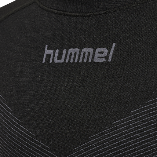 HUMMEL FIRST SEAMLESS KIDS JERSEY L/S , BLACK, packshot
