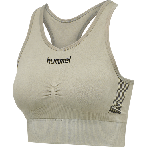 HUMMEL FIRST SEAMLESS BRA WOMEN, LONDON FOG, packshot