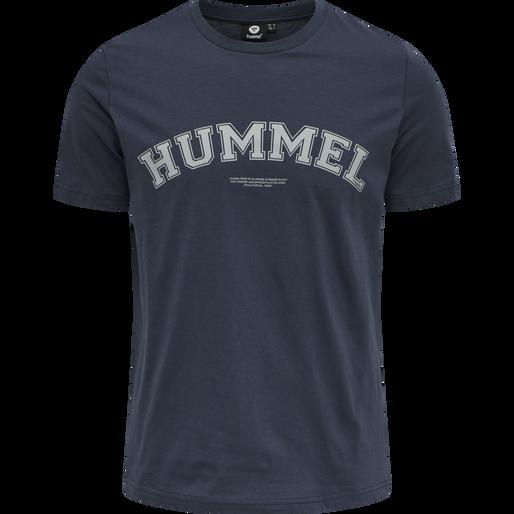 hmlVARSITY T-SHIRT, BLUE NIGHTS, packshot