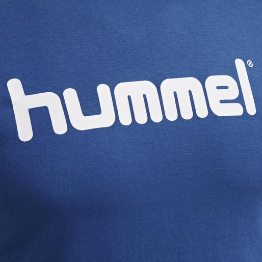 HUMMEL GO COTTON LOGO T-SHIRT WOMAN S/S, TRUE BLUE, packshot