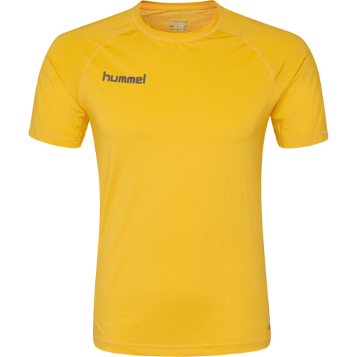 HUMMEL FIRST PERFORMANCE JERSEY S/S, SPORTS YELLOW, packshot