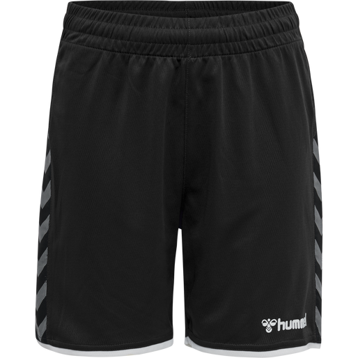 hmlAUTHENTIC KIDS POLY SHORTS, BLACK/WHITE, packshot