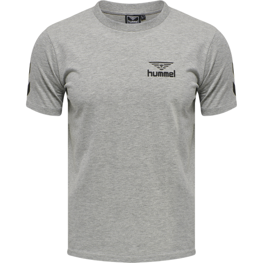 hmlHIVE COTTON TEE, GREY MELANGE, packshot