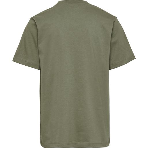 hmlUNI T-SHIRT S/S, DEEP LICHEN GREEN, packshot