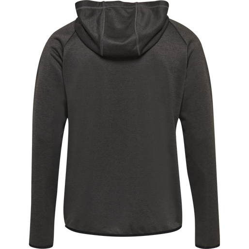 hmlAUTHENTIC PRO ZIP HOODIE, BLACK MELANGE, packshot