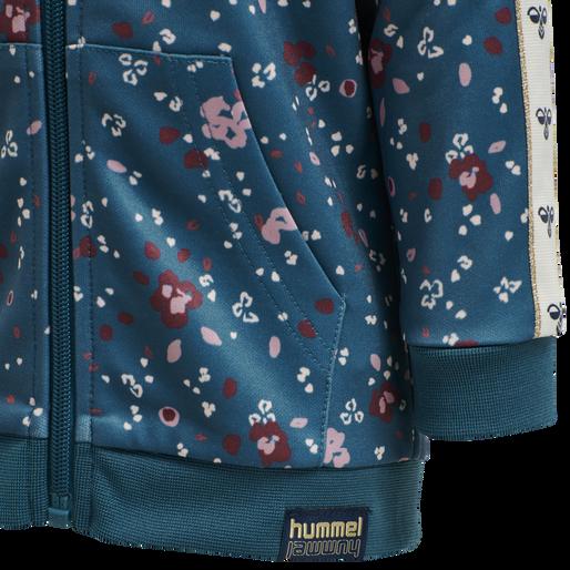hmlFLORA ZIP JACKET, BLUE CORAL, packshot