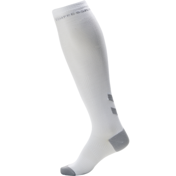 ELITE COMPRESSION SOCK, WHITE/ALLOY, packshot