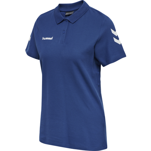 HUMMEL GO COTTON POLO WOMAN, TRUE BLUE, packshot
