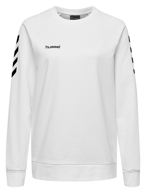 HUMMEL GO COTTON SWEATSHIRT WOMAN, WHITE, packshot