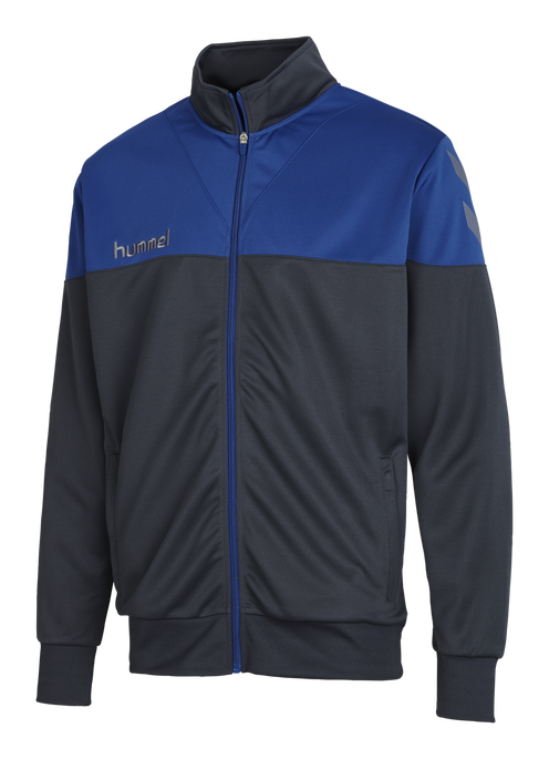 HUMMEL SIRIUS POLY JACKET, DARK SLATE/TRUE BLUE, packshot