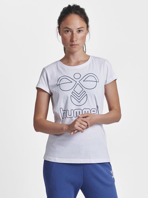 hmlROSE T-SHIRT S/S, WHITE, model