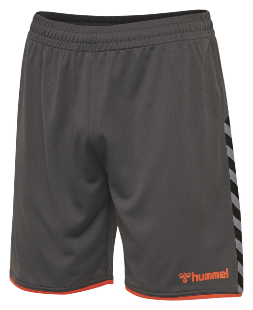 hmlAUTHENTIC KIDS POLY SHORTS, ASPHALT, packshot