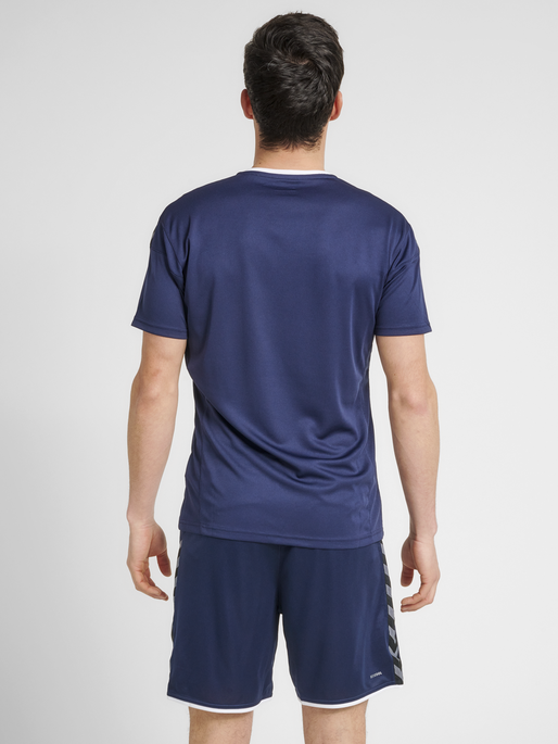 hmlAUTHENTIC POLY JERSEY S/S, MARINE, model