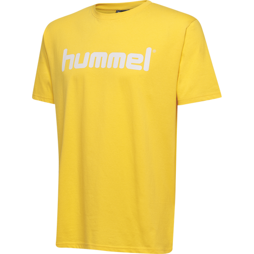 HUMMEL GO COTTON LOGO T-SHIRT S/S, SPORTS YELLOW, packshot