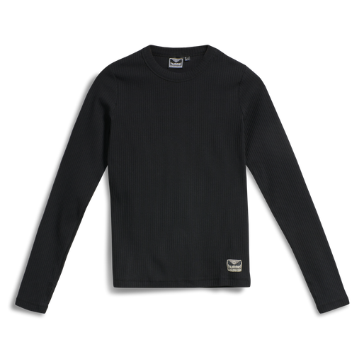 hmlBELL T-SHIRT L/S, BLACK, packshot