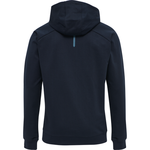hmlACTION COTTON HOODIE, DARK SAPPHIRE/BLUE CORAL, packshot