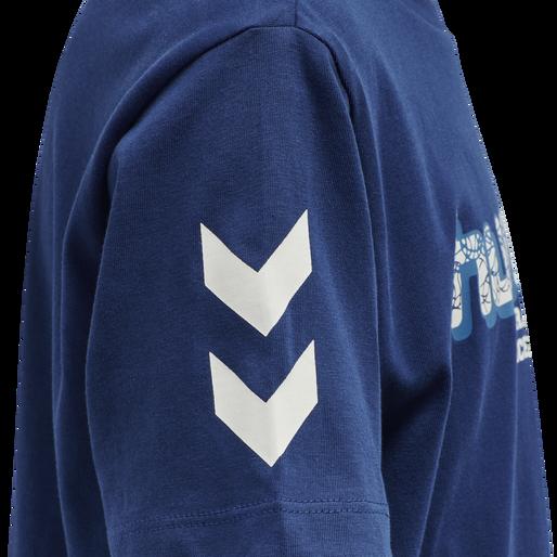hmlPANTHER T-SHIRT S/S, ESTATE BLUE, packshot