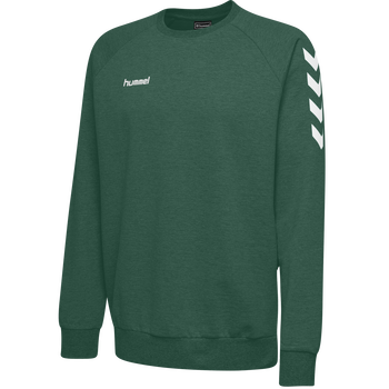 HUMMEL GO KIDS COTTON SWEATSHIRT, EVERGREEN, packshot