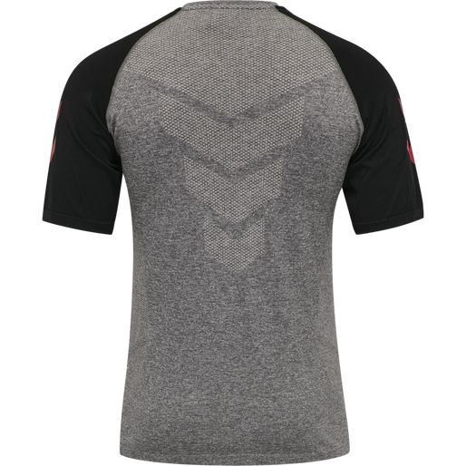 DBU PLAYER PRO SEAMLESS JERSEY S/S, DARK GREY MELANGE, packshot