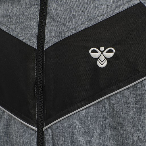 hmlBOND JACKET, BLACK MELANGE, packshot