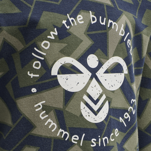 hmlBULLER T-SHIRT L/S, BLACK IRIS, packshot