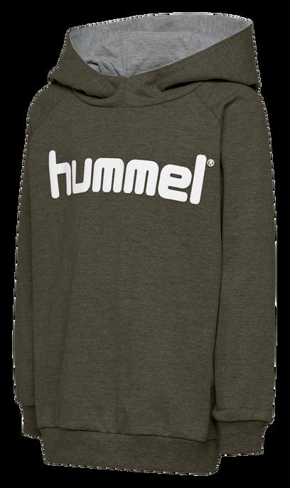 HUMMEL GO KIDS COTTON LOGO HOODIE, GRAPE LEAF, packshot