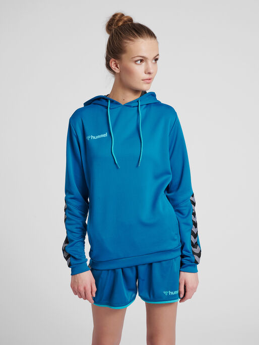 hmlAUTHENTIC POLY HOODIE WOMAN, CELESTIAL, model