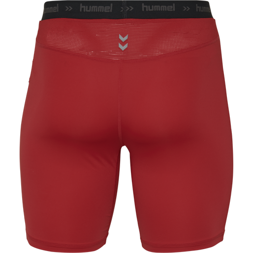 HUMMEL FIRST PERFORMANCE TIGHT SHORTS, TRUE RED, packshot