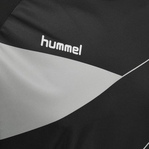 HUMMEL COURT JERSEY S/S, BLACK/HIGH RISE, packshot